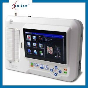 Elettrocardiografo a 3/6 canali interpretativo ECG600G con software per PC