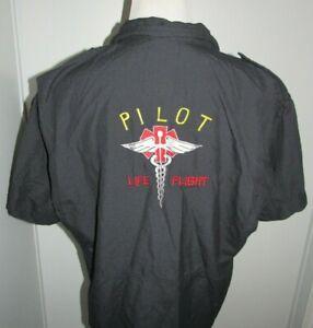 SISLEY AUSTRALIA LIFE FLIGHT PILOT MENS 2XL UNIFORM SHIRT SEWN FIRE RESISTANT