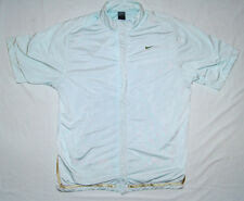 Warm up Jacket Womens NIKE BASKETBALL XL S/S Pale Blue / Green Snap Front
