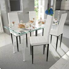 Slim line Eetkamerstoel 4 stuks (wit) set eetkamerstoelen eet kamer stoelen