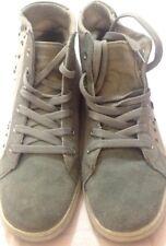 Scarpe alte da donna ragazza bambina - colore grigio con perline - N° 37  USATE