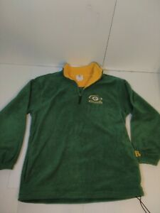 NFL Mens Green Bay Packers Half Zip Fleece Pullover Jacket Large VF Imagewear