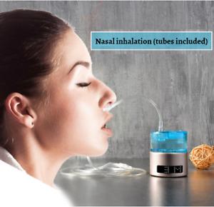 2021 New SPE/PEM Portable Inhalation Hydrogen Generator Water Ionizer Nasal Tube