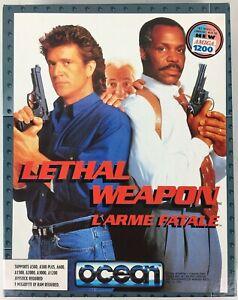 Lethal Weapon 1992 Ocean Amiga Big Box PC Game 500/600/1500/2000/3000/1200 - New