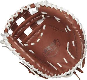 "NWT Rawlings R9 33"" Softball Catcher's Mitt Free Shipping"