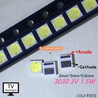TV Backlight LED Diode SMD 3030 3V 1W Cool White LED 100PCS