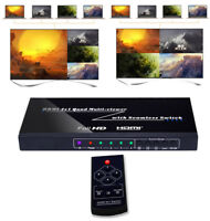 HDMI 4x1 Quad Multi-Viewer Switcher Seamless Switch PIP Picture Splitter Display