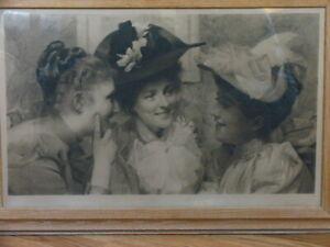 "Antique 1894 Rare Thomas Benjamin TB Kennington ""MISCHIEF"" London Print"