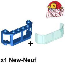 Lego - 1x window fenêtre train trans light blue 17457 + bleu/blue 17454 NEUF