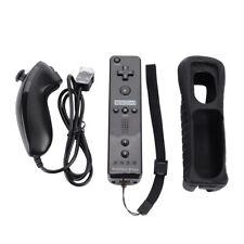2in1 For Nintendo Wii Motion Plus Remote Nunchuck Controller+Silicon Case-Strap