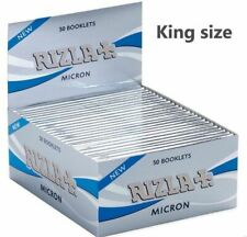 Rizla Silver Micron Thin Kingsize Slim Cigarette Smoking Rolling Papers Free P&P