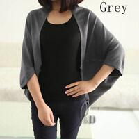 AU SELLER Women's Cardigan Poncho Sweater Coat Open Top/Shawl Scarf  T045