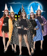 2pcs Witch Hat Adult Women's Pumpkin Halloween Fancy Dress Costume Accessories