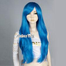 70CM Dark Blue Long FAIRY TAIL Juvia Loxar Heat Resistant Full Cosplay Wig