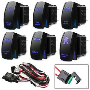 12V Relay Switch Control Led Light Bar Wiring Harness Fog Work Spot Light Kit