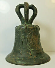 """Antique Mission Bell 5.5"""" Bronze Spanish Mexico"""