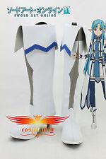 New SAO Sword Art Online Ⅱ2 Asuna Yuuki Boots Cosplay Shoes Custom Made B2277