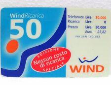 "SCHEDA TELEFONICA RICARICARD-""WIND EDIZIONE SPECIALE""-lire 50.000-sc. 30-06-2000"
