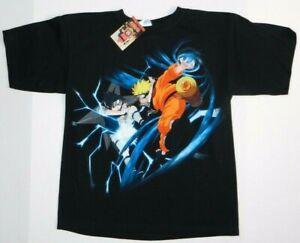2002 vintage naruto shonen jump anime black youth t shirt new