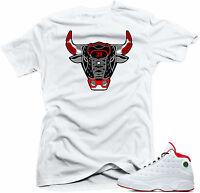 b8b0b99b6fc6c5 Shirt to match Air Jordan History of Flight Retro 13. Bull 13 White Tee
