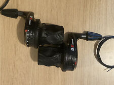 SRAM X.0 9 Speed Rear Grip Shifters & 3 Speed Front, New With Cables