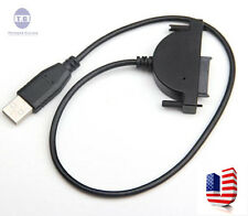 USB 2.0 to 7+6 13Pin SATA Laptop CD/DVD/Blu-ray Optical Drive Adapter Cable