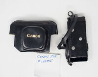 Canon 7SZ Camera Case From Peter Dechert Collection With Handwritten Note