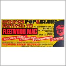 Fleetwood Mac 1970 Halifax Pop & Blues Festival Concert Poster (UK)