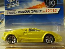 Hot Wheels 25th Anniversary Lamborghini Countach Yellow 12 of de 12 card!
