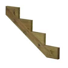 PLUS Treppenwange Treppenwangen 4 Stufen für Holz Treppe druckimprägniert Außen