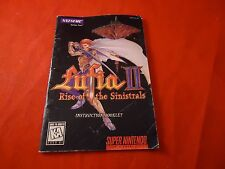Lufia II Rise of the Sinistrals Super Nintendo SNES Instruction Manual Booklet