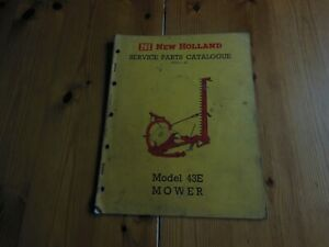 NEW HOLLAND  MODEL 43E  MOWER SERVICE PARTS CATALOGUE - 1964