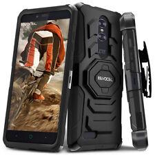 ZTE ZMAX PRO Case, Evocel Rugged Dual Layer Holster Case w/ Kickstand & Clip