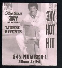 3XY  1984 HOTTEST ALBUMS SURVEY CHART - No 1 - LIONEL RITCHIE
