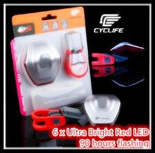CYCLIFE Super Bright 6 LED UFO Rear Flashing Light  Bike Bicycle Tail LED Light