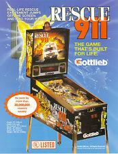 1994 GOTTLIEB RESCUE 911 PINBALL FLYER