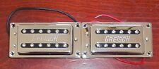Gretsch® Chrome Bridge & Neck Humbucker Pickup Set With Mounting Rings Brand New