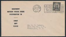 "#588-Nim ""Rotary Press Issue"" Perf 10 On Fdc Similar To #590-1 By Colman Bt897"