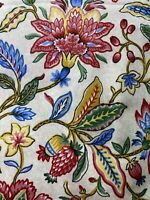 Braemore Design Floral Fabric Over 4 Yards Screen Print 1646