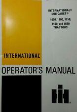 Ih International Cub 1000 1200 Garden Tractor & Mower Deck Owner (2 Manuals) 76p