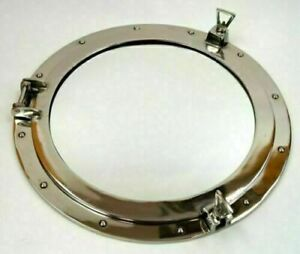 Porthole Mirror Chrome Nautical Maritime Décor Large Ship Cabin Window 18""