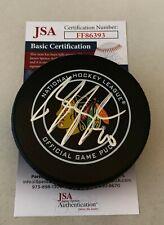Brandon Saad signed Chicago Blackhawks Official Game Puck autographed Hawks JSA