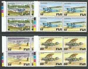 FIJI 1978 Aviation set blocks of 4 MNH.....................................64794