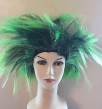 Short Spiky Punk Rocker 80s WIG Women ladies Multi coloured Fancy Dress  Costume acd731aff