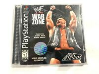WWF War Zone (Sony PlayStation 1, 1998) COMPLETE WITH MANUAL TESTED PS1 CIB