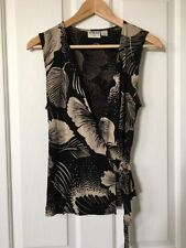 Viscose Career Floral Sleeveless Tops for Women