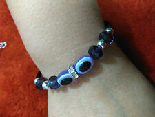 Bead Evil Eye PURPLE Bracelet Charm Protection