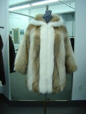 BRAND NEW COYOTE & WHITE FOX FUR JACKET COAT WOMAN WOMEN MAN MEN SIZE ALL