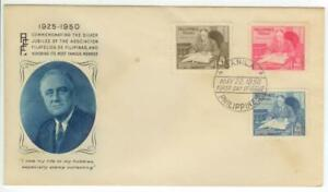 1950 Philippines First Day Cover - President Franklin Roosevelt issues