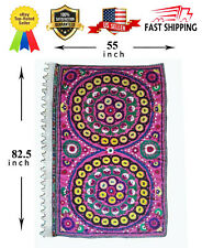 Uzbek Silk Vintage Hand Embroidery Wall Decor Tablecloth Suzani Sale Was $469.00